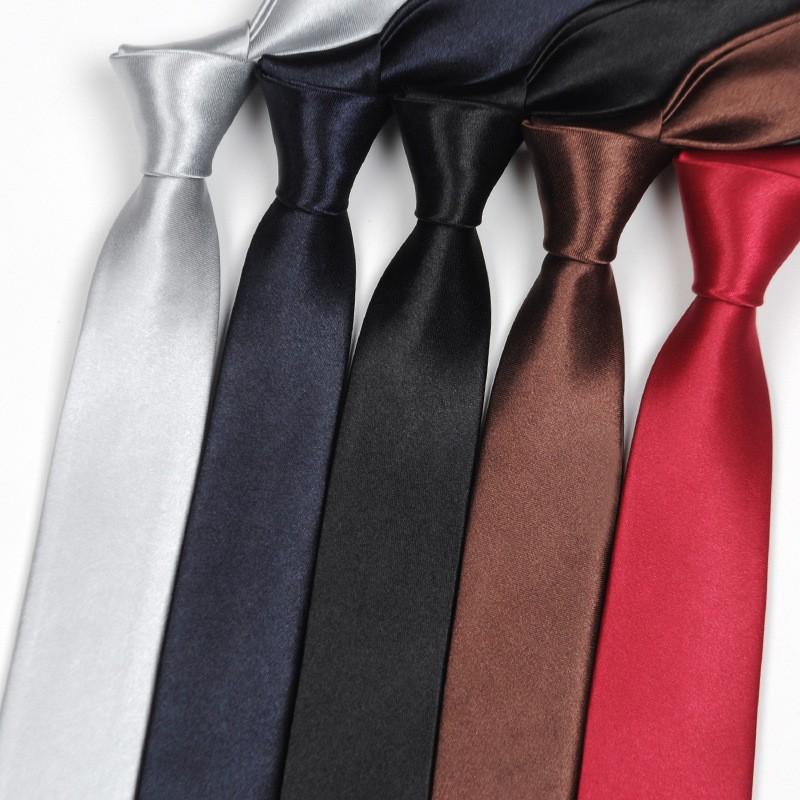 UK Wine Red Men/'s Slim Tie Narrow Skinny Plain Satin Party Wedding Necktie