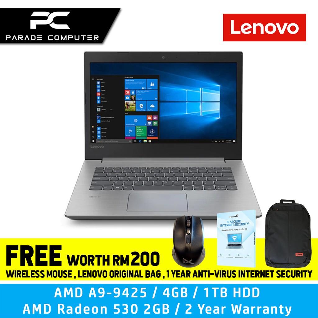 Lenovo Ideapad 330 14ast 14 Hd Amd A9 9425 4gb 1tb Amd Radeon 530 2gb W10 Shopee Malaysia