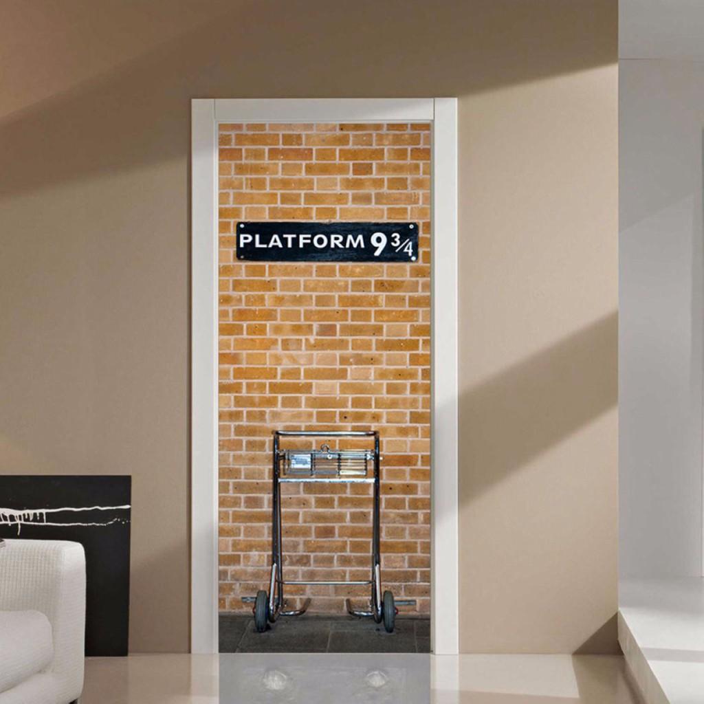 3d Harry Potter Platform 9 3 4 Door Wall Sticker Art Self Adhesive Mural Decor