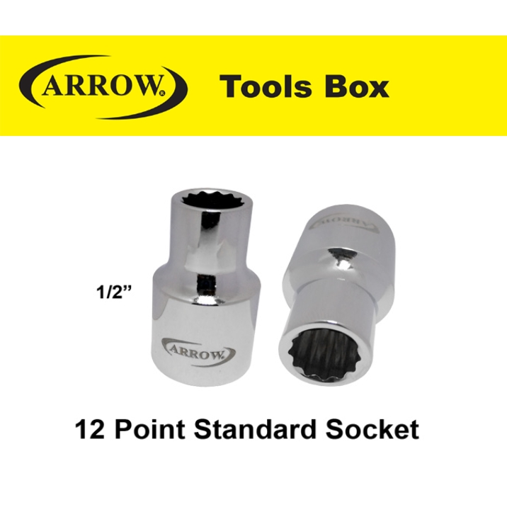 ARROW 12 1/2'' POINT STANDARD SOCKET EASY USE SAFETY GOOD QUALITY*1