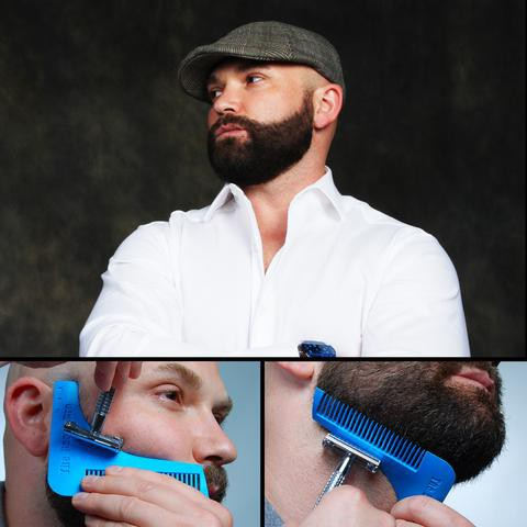 READY STOCK SHP] ALAT SIKAT JANGGUT & JAMBANG / Beard Shaper Styling Comb Trimming Shaping Tool/ ALAT BENTUK JAMBANG