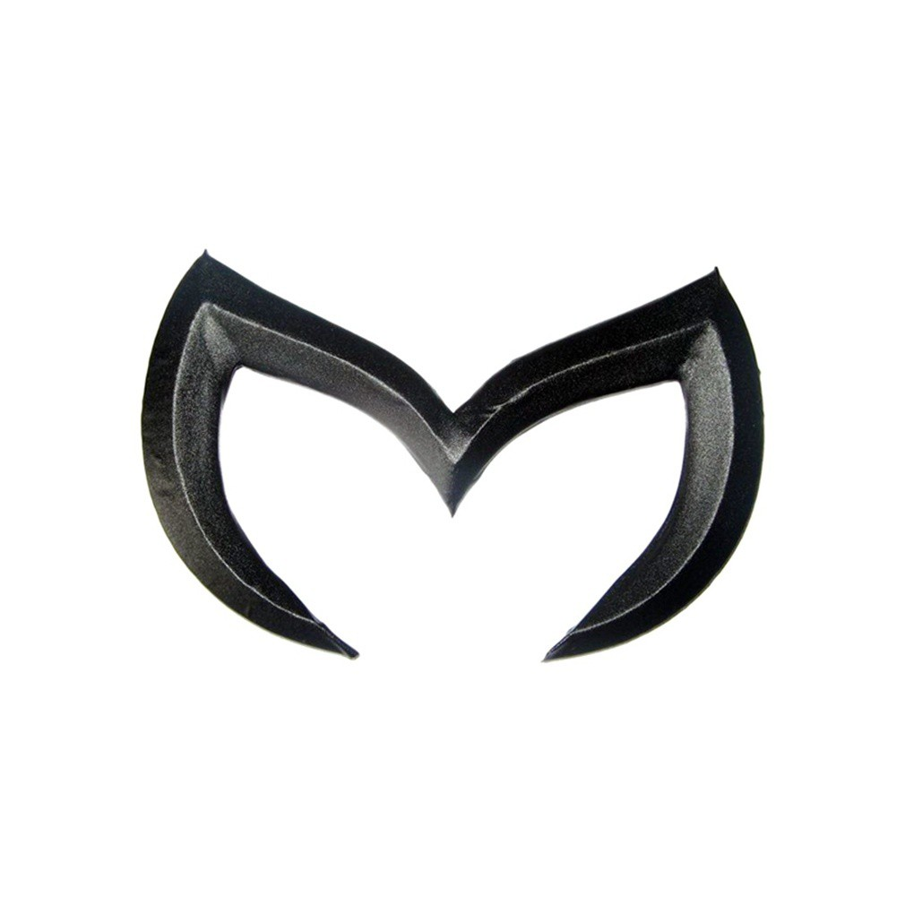1pc Red Evil M Rear Trunk Emblem Decal Badge Sticker For Mazda