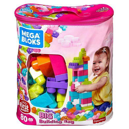*Original* Fisher Price Mega Bloks 60 pcs / 80 pcs Building Bag Early Learning Building Blocks Fisher-Price DCH62DCH63