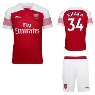 reputable site 8f0b3 4d307 2018-2019 Boy's Arsenal No.34 XHAKA Home Kit Kids Football jersey Soccer  shirt
