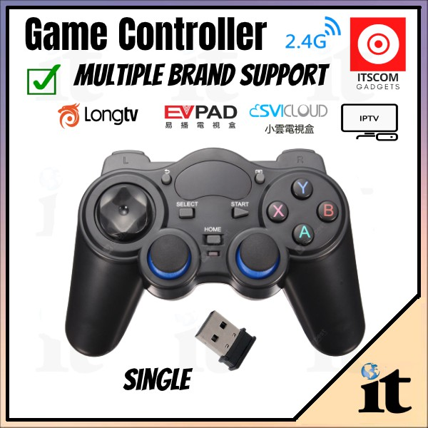 Game Control 2.4GHz Wireless Dual Joystick Control Game Controller Gamepad For PS3 PC TV Box - SHIP FROM JOHOR