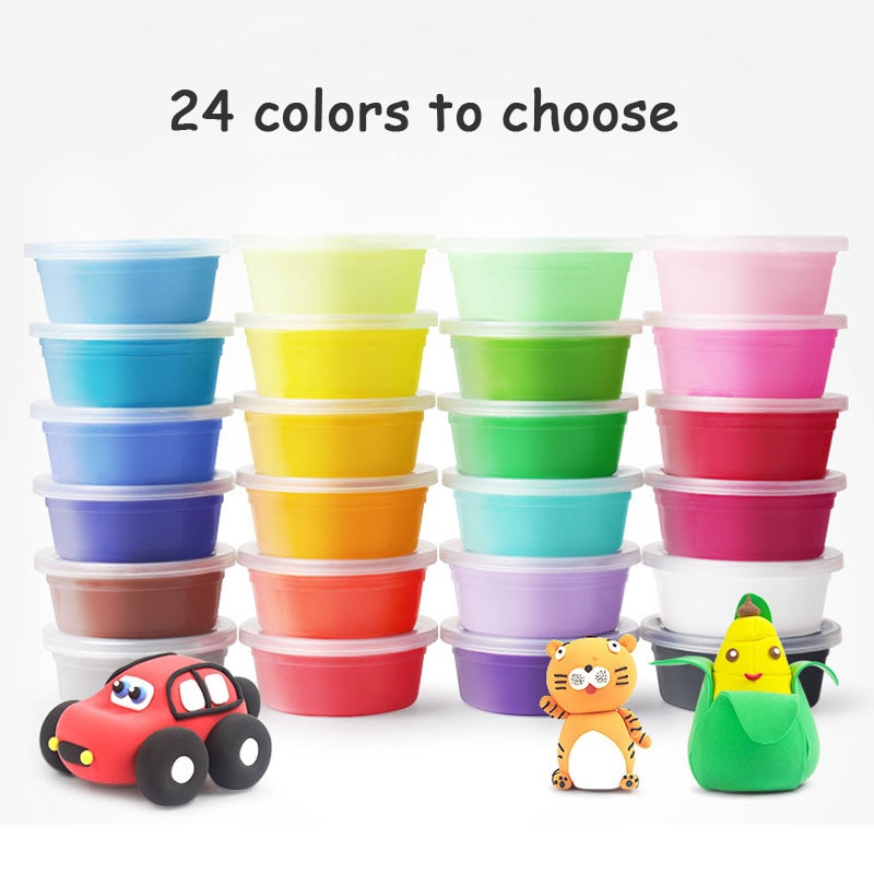 12//24pcs Fimo Colored Clay Polymer Plasticine Modelling Clay Air Dry Playdou  ^