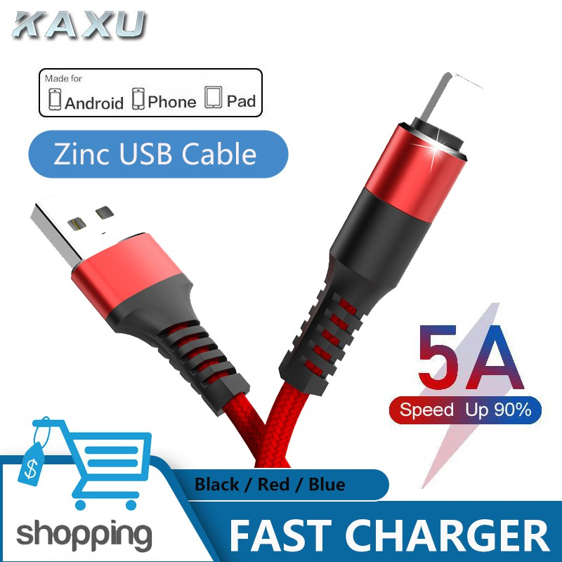 5A Fast Charging Cable for iPhone/iPad Data Sync Wire Type-c / Micro USB  Cable for Huawei Samsung Xiaomi OPPO Cable