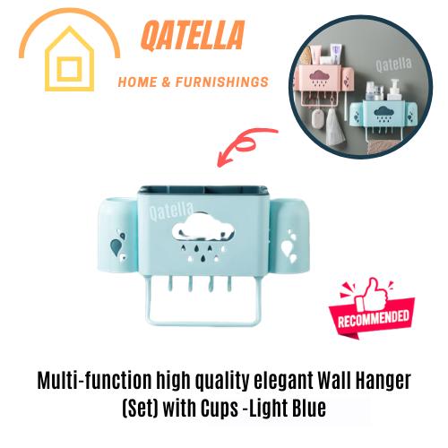 Qatella Bathroom Shelf Bathroom Rack Wall Mounted Plastic Bathroom Kitchen Corner Wall Storage Rack Organizer 浴室厨房多功能置物架