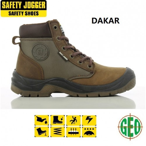 2706020e5a7 SAFETY JOGGER DAKAR SAFETY SHOES BOOTS (BROWN) SIZE 38-47 ( Kasut  Keselamatan)