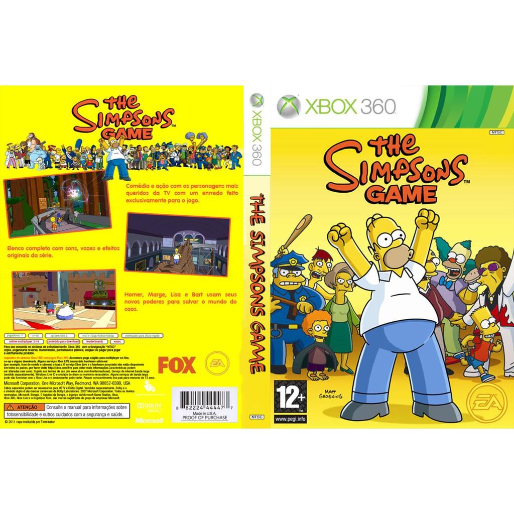 Xbox 360 The Simpsons Game Shopee Malaysia