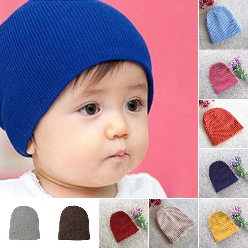 a0f28f73cb8 10 Colors Winter Baby Infant Toddler Cotton Knitted Beanie Cap Hat. 1 8