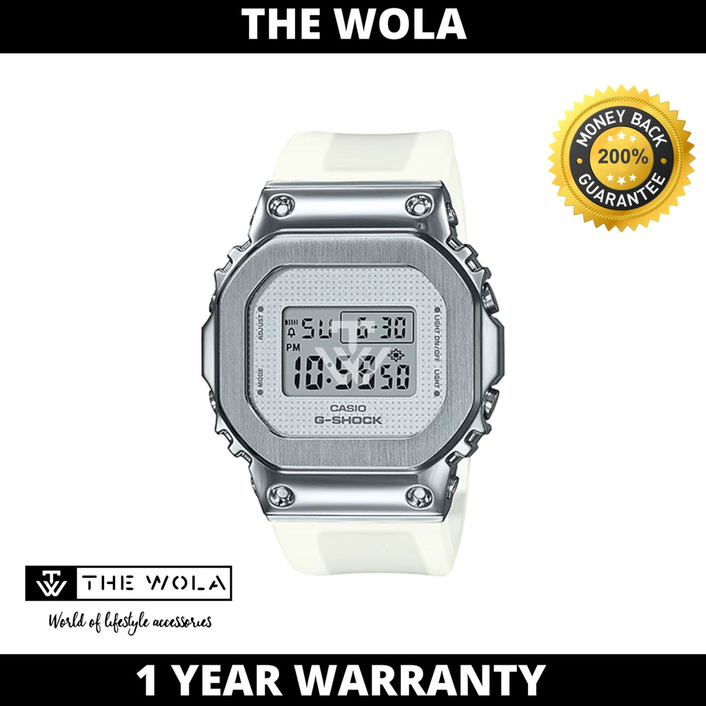 Casio G-Shock Women's Digital GM-S5600SK-7DR White Resin Band Sport Watch