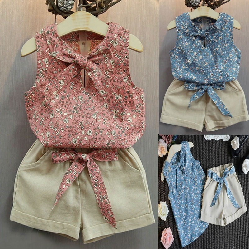 Faux Fur Gilet /& Leggings 3 Piece Outfit 3-12 Months Baby Girls Floral Top