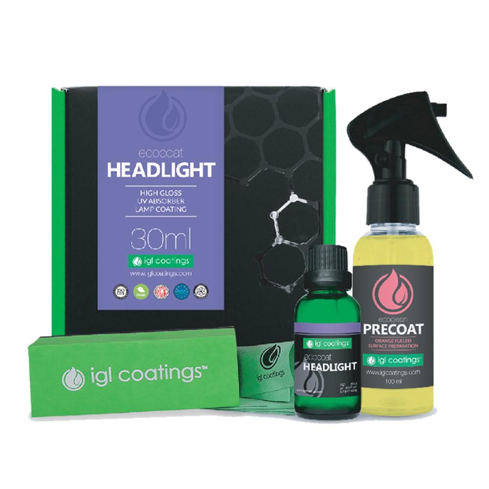 IGL Coatings Ecocoat Headlight Full Set Ceramic Car Coating for Car Headlights Water Repellent & Superb Hydrophobic