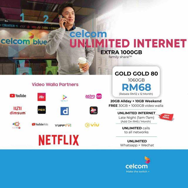 Celcom Unlimited Internet