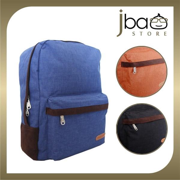 ELEGANT Canvas Casual Travel Laptop Backpack Notebook Bag J08