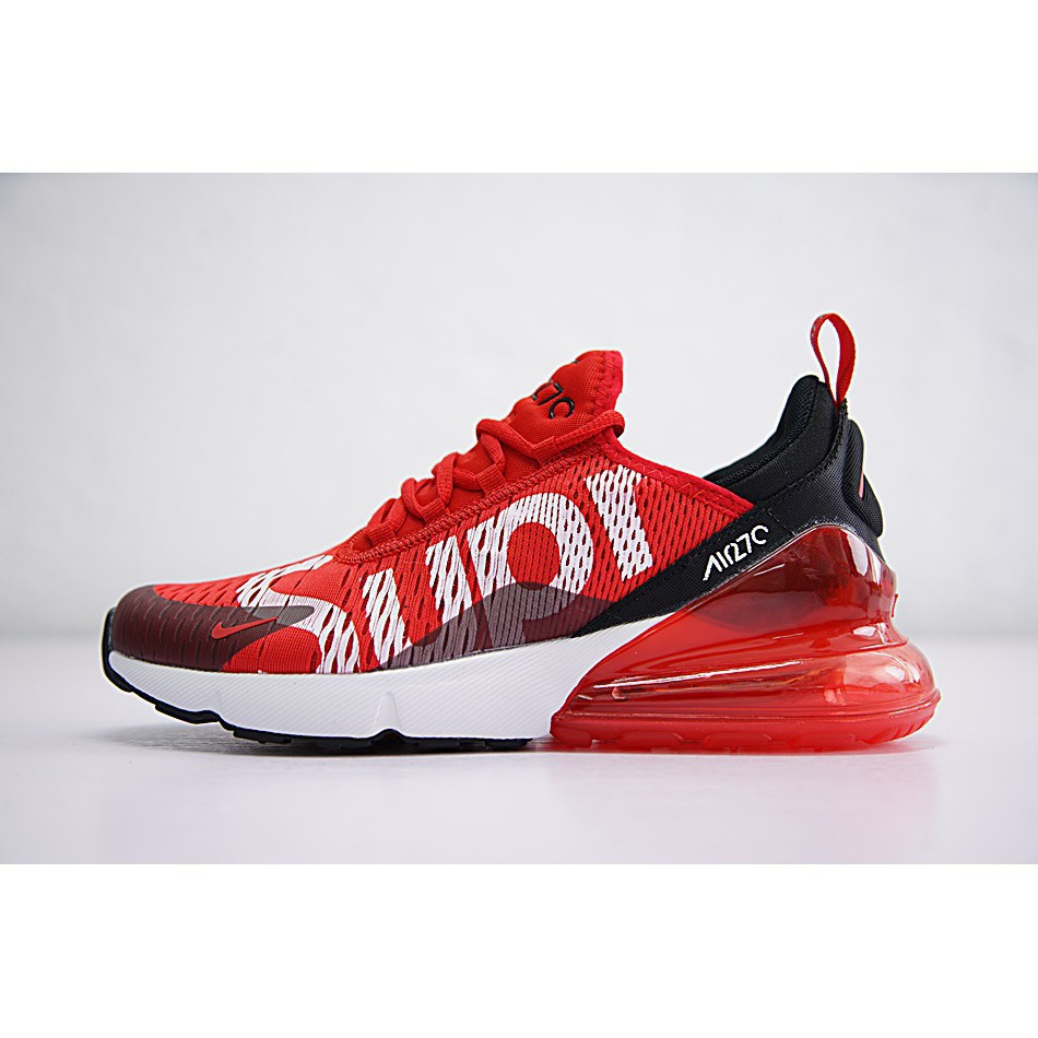 new concept 4999b f0193 Nike Air Max 270 x Supreme Shoes Men Airmax 27c Running Shoes Sport  Sneakers Red