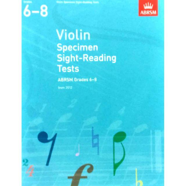ABRSM Violin Specimen Sight-Reading Tests Grades 6-8
