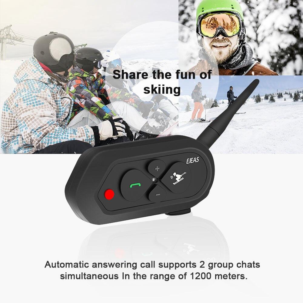 1e25981e4bf EJEAS SKI 10 1200m Bluetooth SK Intercom Headset 2-way Wireless  Communication Talking Group Interphone for 2 Skiers | Shopee Malaysia