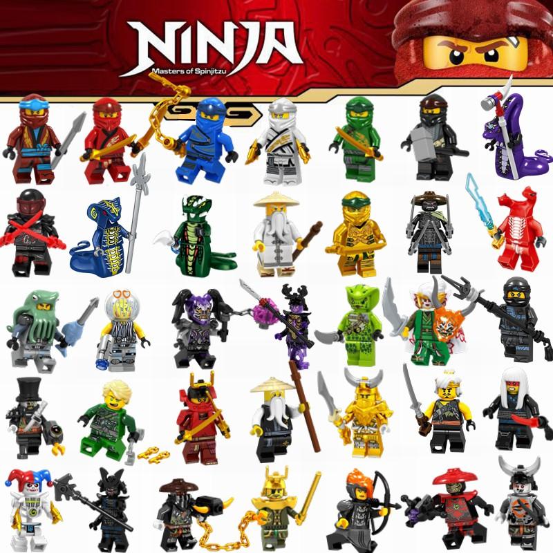 8Pcs Ninjago Mini figure for Lego TOY Zane Jay Harumi Kai Nya Building Blocks