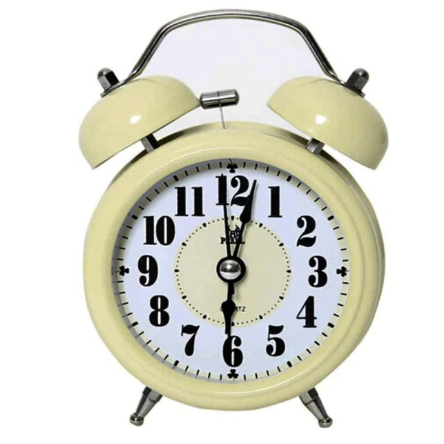Pearl Sweep Metal Alarm Clock Table Clock 6 Colours Night Light Colourful Clock Good Quality Bell Alarm Clock