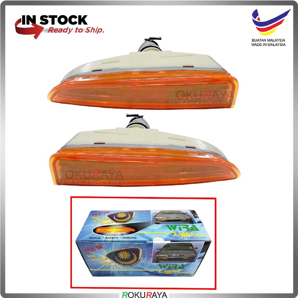 Proton Wira Satria Putra Front Bumper Signal Spot Fog Light Lamp Celah Celak (Amber Orange)