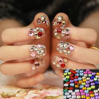 da309db9c2 🍋12 Colors Glitters Acrylic Nail Decoration Stickers DIY Tips ...