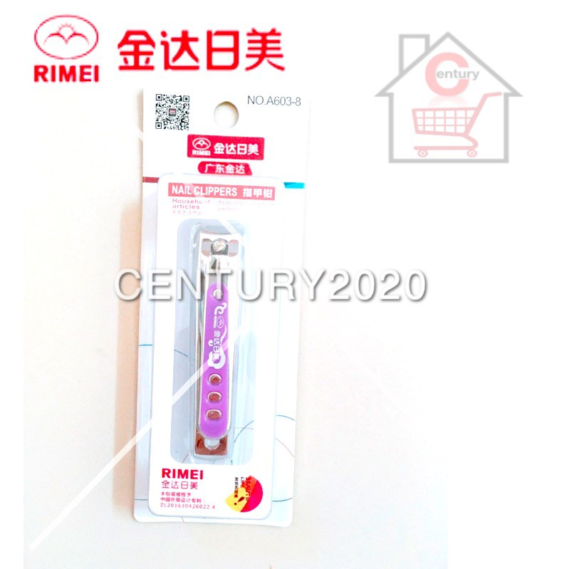 RIMEI Nail Clipper Manicure Care Nail Cutter High Grade Stainless Steel Nail Cutter A603-8