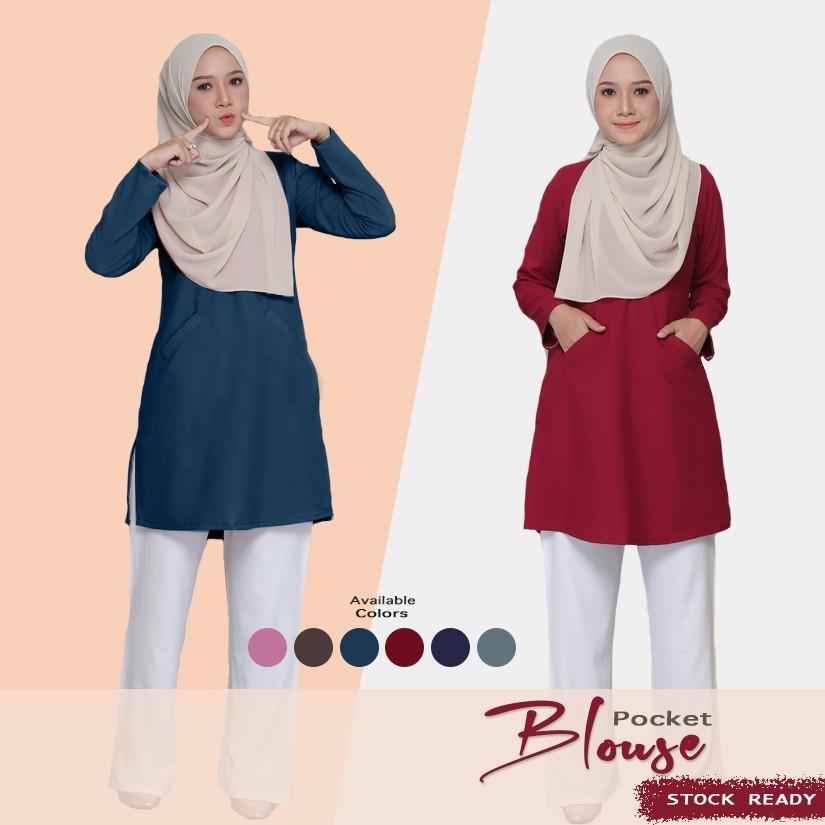 Blouse Pocket Muslimah Blouse Nursing Blouse Muslimah Blouse