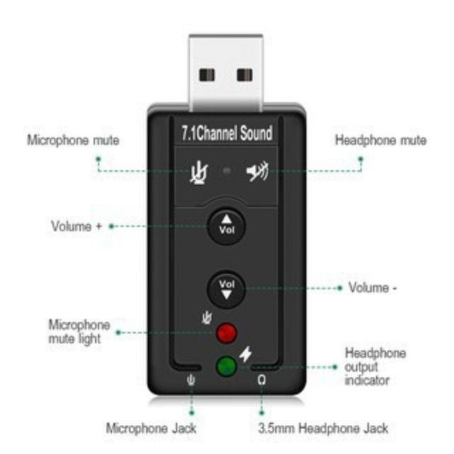 7 1 Channel External USB Sound Card For 3 5mm Jack Earphone Adapter  Soundcard