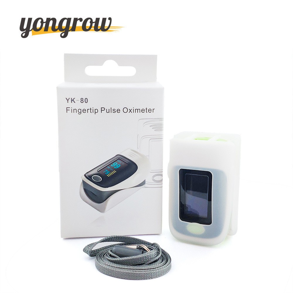 Yongrow Pulse Oximeter Fingertip Pulse Oximeter and Silicone