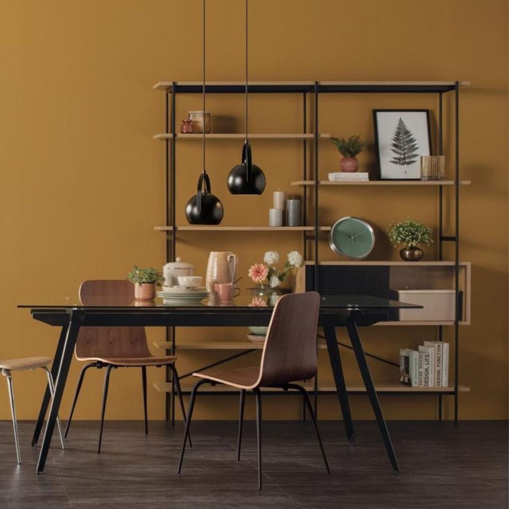 Kreman Wall Unit with Oak colour shelf/ Shelf / Industrial Style/ Rack/ Rak Besi/ Rak Murah