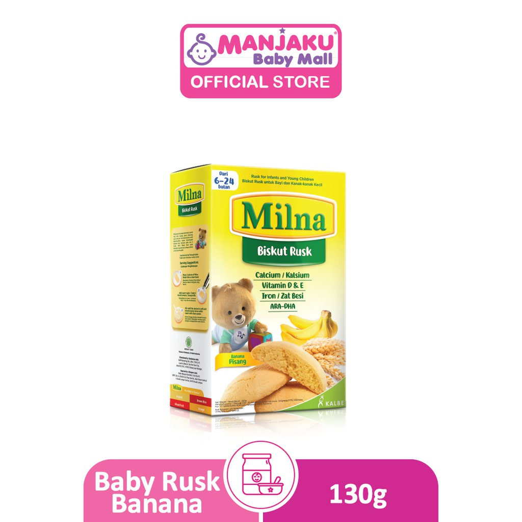 Milna Baby Rusk (130g) - Assorted Flavors