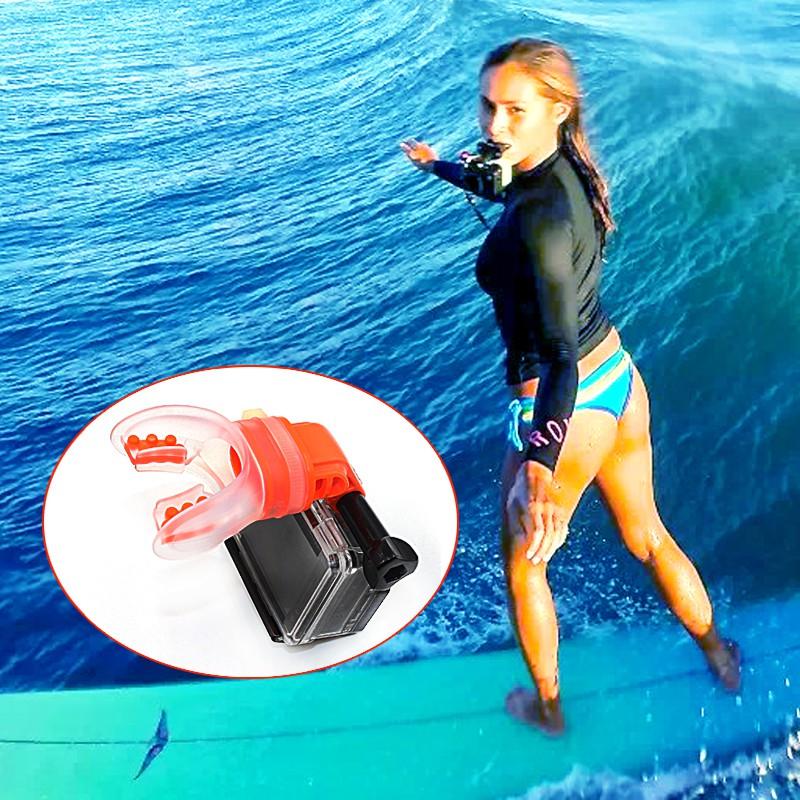 1 Set Surfing Shoot Bite Mouth Grill Mount for GoPro Hero7 6 5 4 3+//3 YI SJCAM