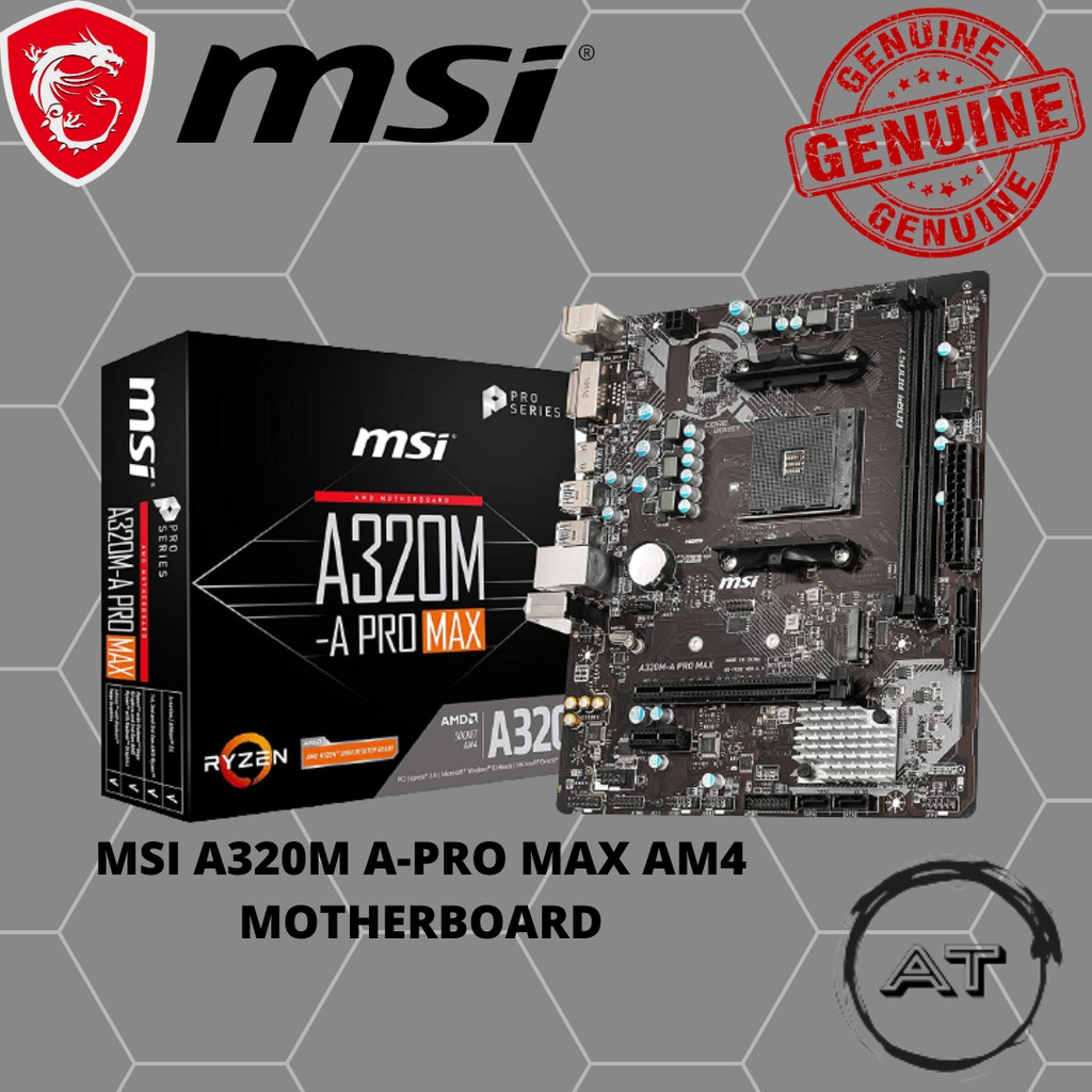 MSI A320M A-PRO MAX AM4 MOTHERBOARD