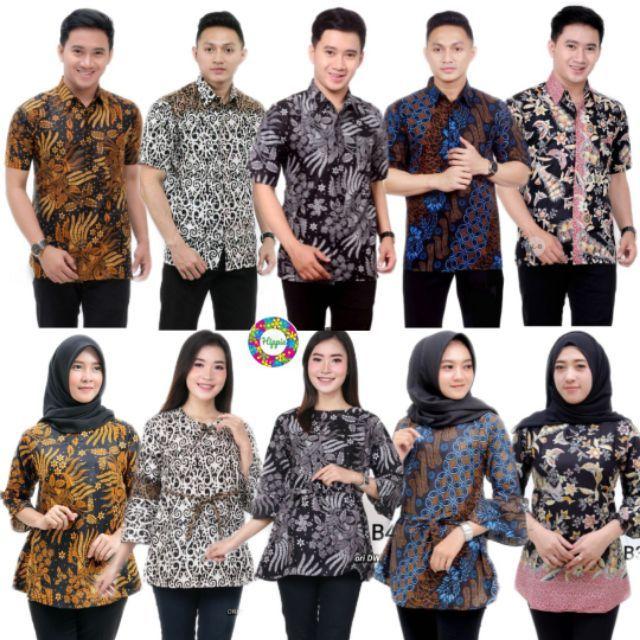 Kemeja Batik M-3XL Blouse Batik Batik Couple Hipster Jawa