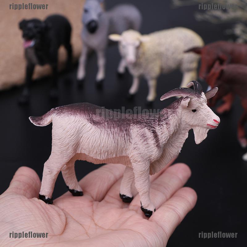 Plastic Farm Animals Toy Model Figures Cow Bull Goat Sheep Horse Donkey zoo