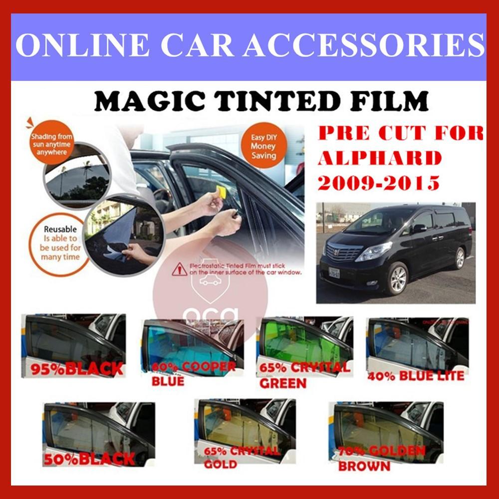 Toyota Alphard 2009-2015  - Pre-Cut Shape Magic Tinted Solar Tinted (4 Windows & 2 Triangle /4 Windows+Rear)
