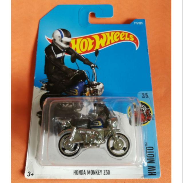 Mint on blister card. HOT WHEELS Metallic Red Honda Monkey Z50