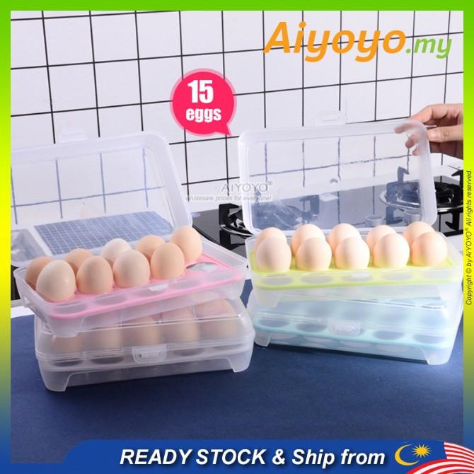 Egg Container Egg Storage Bekas Simpan Telur Egg Holder Egg Tray Food Storage Kitchen Storage Egg Fridge Egg Refrigerato