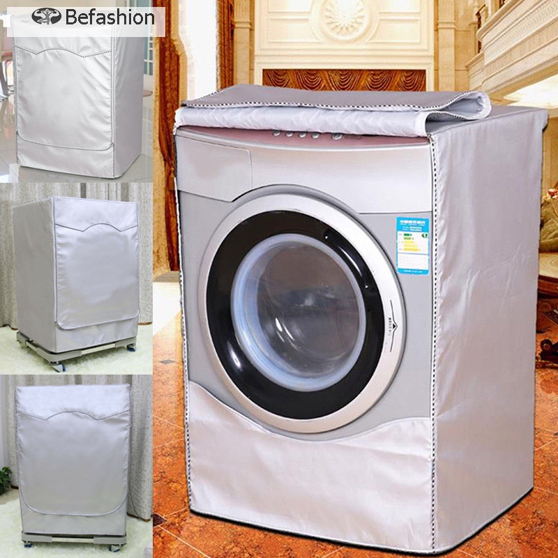 Washing machine cover Waterproof And Dustproof Washing Machine Set Environmental Protection Cover Suitable For Most Front Loading Washers And Dryers Waterproof Suitable for most top or front load wash