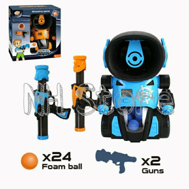 2 in 1 SOFT FOAM BALL SHOOTING BATTLE GAME WITH SCORING SYSTEM <NHstore