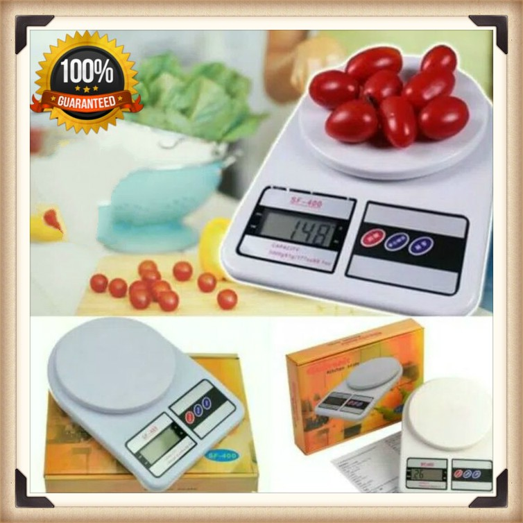 HC SF-400 Digital Scale Electronic Kitchen Weighing Digital Scale With free 2pcs AA Battery Timbangan Scale