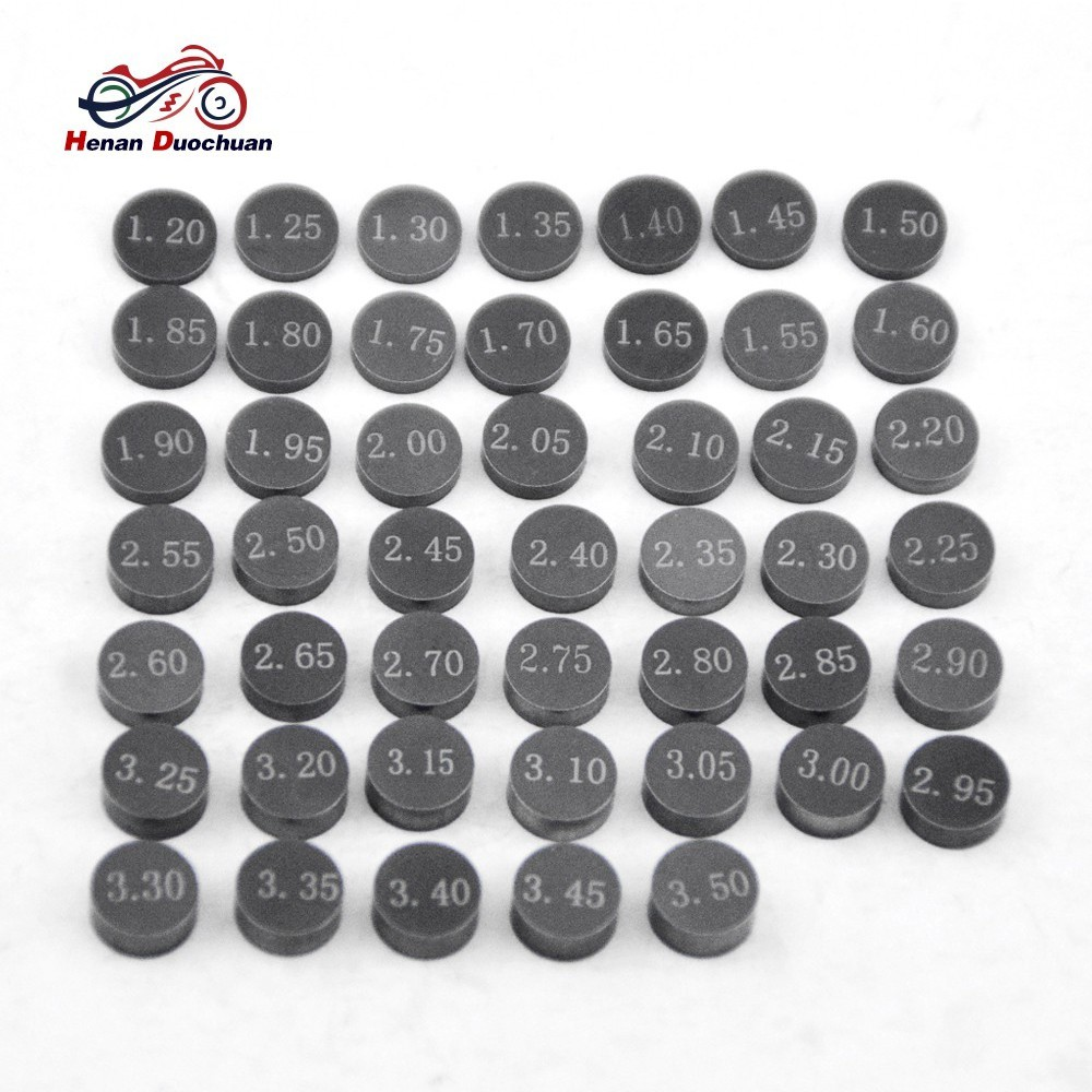 47pcs Motorcycle Engine 7 48mm Adjustable Valve Gasket Shim Complete Refill  Kit