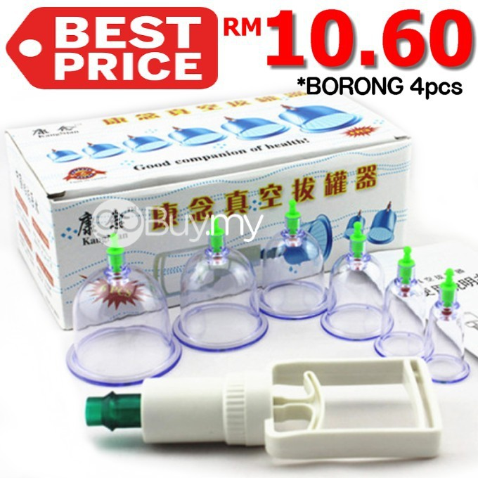 Cup Bekam 6pcs With Vacuum Pump