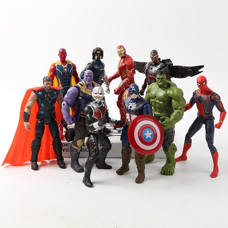Movie Cartoon Avengers 3 Raytheon Iron Man Spiderman Doll Family Desk Decoration
