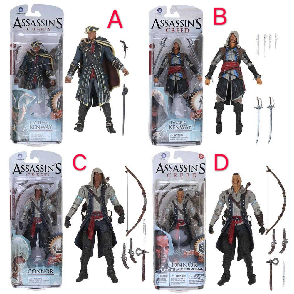 Neca Assassin S Creed Iv Black Flag Toys Mcfarlane Connor 15cm 6 Action Figure Toys Shopee Malaysia