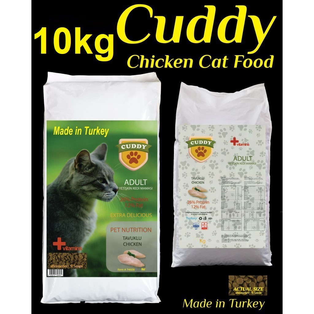 10kg Cuddy Chicken Cat Food Made In Turkey  | Makanan Kucing Premium