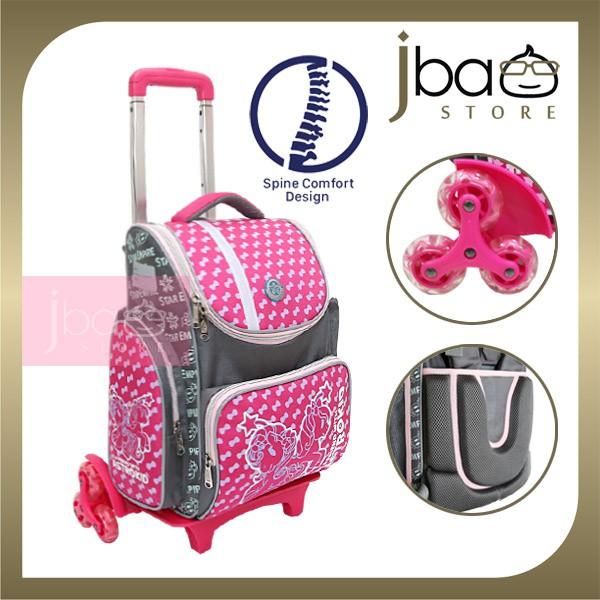 2020 Astrokid 6 Wheels Kid Trolley School Bag Astrokids 3D Foam Cushion Backpack Spine Comfort design R-801974-PN