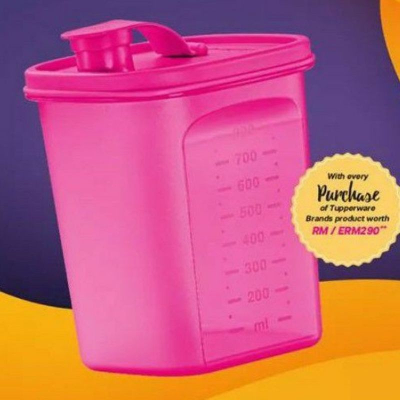Tupperware  1L Chill Fresh Pourer Hydrangea Water Margarita Tropical Water Pink 1000ml